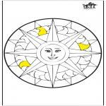 Malvorlagen Mandalas - Mandala Sonne