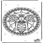 Malvorlagen Mandalas - Mandala Wespe