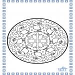 Malvorlagen Winter - Mandala Winter