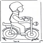 Allerhand Ausmalbilder - Mann auf Moped