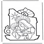 Bibel Ausmalbilder - Maria und Jesus 2