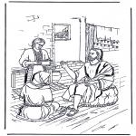Bibel Ausmalbilder - Maria und Martha 1
