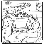 Bibel Ausmalbilder - Maria und Martha 2