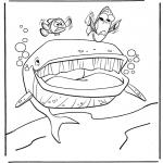 Ausmalbilder für Kinder - Marlin und Dory