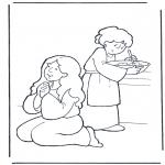 Bibel Ausmalbilder - Martha und Maria