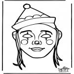 Malvorlagen Basteln - Maske 10