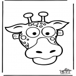 Malvorlagen Basteln - Maske 11