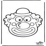 Malvorlagen Basteln - Maske 12