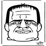 Malvorlagen Basteln - Maske 14