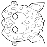Malvorlagen Basteln - Maske 2