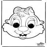 Malvorlagen Basteln - Maske 9