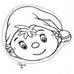 Malvorlagen Basteln - Maske Elfe