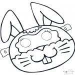 Malvorlagen Basteln - Maske Kaninchenn