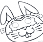 Maske Kaninchenn