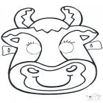 Malvorlagen Basteln - Maske Kuh 2
