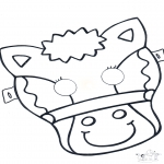 Malvorlagen Basteln - Maske Pferd