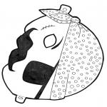 Malvorlagen Basteln - Maske Pirat