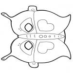 Malvorlagen Basteln - Maske Schmetterling