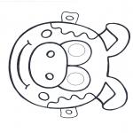 Malvorlagen Basteln - Maske Schwein