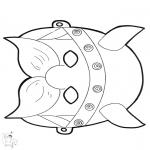 Malvorlagen Basteln - Maske Wikinger