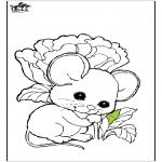 Ausmalbilder Tiere - Maus 1