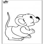 Ausmalbilder Tiere - Maus 2