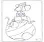 Maus auf Ball