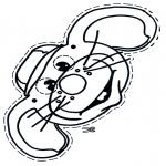 Malvorlagen Basteln - Maus Maske