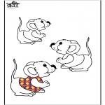 Ausmalbilder Tiere - Mauschen 2