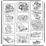 Malvorlagen Basteln - Memory Cars