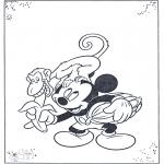 Ausmalbilder Comicfigure - Mickey und Affe