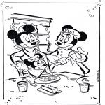 Ausmalbilder Comicfigure - Mickey und Minnie