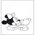 Ausmalbilder Comicfigure - Minnie als Baby