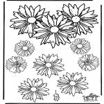 Malvorlagen Basteln - Mobile Blumen