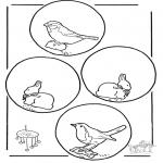 Malvorlagen Basteln - Mobile Tiere