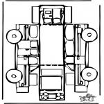 Malvorlagen Basteln - Modellbogen Auto