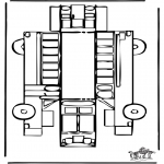 Malvorlagen Basteln - Modellbogen Bus