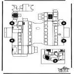 Malvorlagen Basteln - Modellbogen Doppeldecker