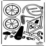 Malvorlagen Basteln - Modellbogen Fahrrad