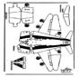 Modellbogen Flugzeug