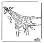 Modellbogen Giraffe 2
