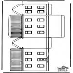 Malvorlagen Basteln - Modellbogen  Haus