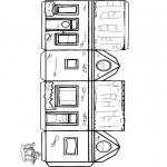 Malvorlagen Basteln - Modellbogen Häuschen 1