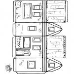 Malvorlagen Basteln - Modellbogen Häuschen 2