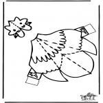 Malvorlagen Basteln - Modellbogen  Huhn