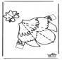 Modellbogen  Huhn