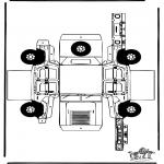 Malvorlagen Basteln - Modellbogen Hummer