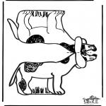 Malvorlagen Basteln - Modellbogen Hund