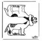 Modellbogen Hund