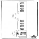 Bibel Ausmalbilder - Modellbogen  Kirche 3